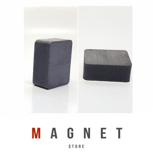 25x20x10mm Y30BH Uncoated Ferrite Block Magnet