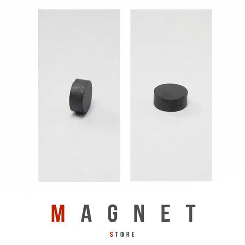 10x4mm Y30BH Uncoated Ferrite Disc Magnet