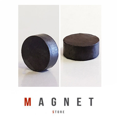 12x5mm Y30BH Uncoated Ferrite Disc Magnet