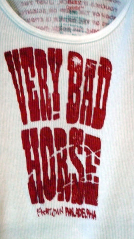 MOTOR: unisex 'STORY of the VERY BAD HORSE ~ white/red print
