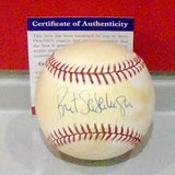 Bret Saberhagen Signed Baseball #1 (PSA/DNA)