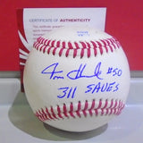"Tom Henke Autographed Baseball ""311 Saves"""