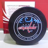 Evgeny Kuznetsov Autographed Official Game Puck