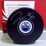 Darnell Nurse Autographed Oilers Model Puck