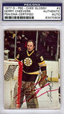 Gerry Cheevers Autographed 1977 O-Pee-Chee Glossy Hockey Card #2 (PSA/DNA)