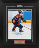 Connor McDavid Autographed and Framed  8 by 10 Erie Otters (Action #2)