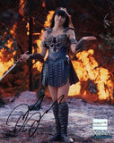 Lucy Lawless (as Xena) Autographed 8 by 10 #2