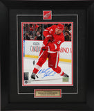 Nicklas Lidstrom Autographed and Framed 8 by 10 Photo