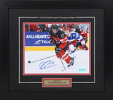 Connor McDavid Autographed and Framed  8 by 10 World Juniors 2015 (break away)
