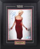 Tricia Hefler (as Number 6) Autographed and Framed (Red Gown)
