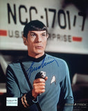 Leonard Nimoy (Lt. Commander Spock) Autographed 8 by 10