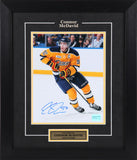 Connor McDavid Autographed and Framed  8 by 10 Erie Otters (Yellow)