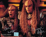 Walsh and March (as Lursa and B'Etor) Autographed 8 by 10 #1
