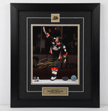 Teemu Selanne Autographed and Framed 8 by 10 Photo (Good-bye Wave)