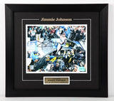 Jimmie Johnson Autographed and Framed 8 by 10 Photo