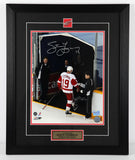 Steve Yzerman Autographed and Framed 11 by 14 Photo (Last Step)