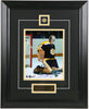 Gerry Cheevers Autographed and Framed 8 by 10 (Action)