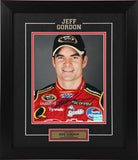 Jeff Gordon Autographed and Framed  8 by 10 (Portrait)
