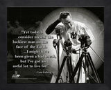 Lou Gehrig Framed 12 by 15 Pro Quote
