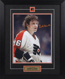 Bobby Clarke Autographed and Framed 8 by 10 (Bloody Warrior)