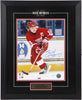 Steve Yzerman Autographed and Framed 11 by 14 Photo (Along the Boards)