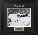 Bobby Orr Autographed and Framed 8 by 10 (The Goal Large Font)