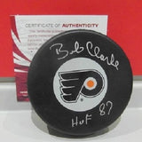 Bobby Clarke Autographed Flyers Puck