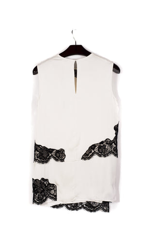 SLVLS LAYERED SHIRT LACE TRIMS