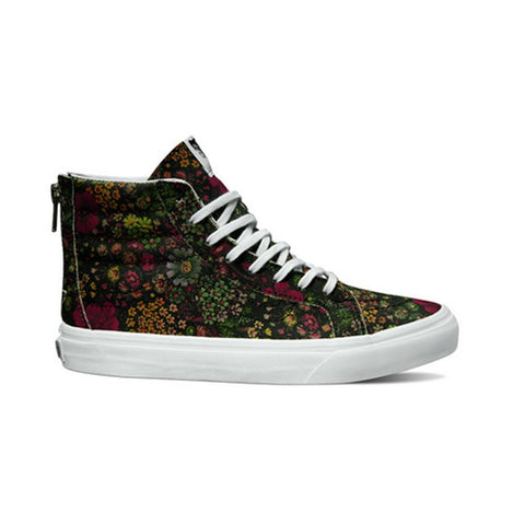 U SK8-Hi Slim Zip (Floral Leather VN000XH8JR11