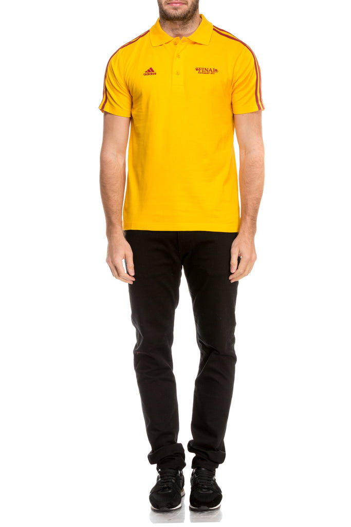 Tricou galben polo Adidas Originals-1