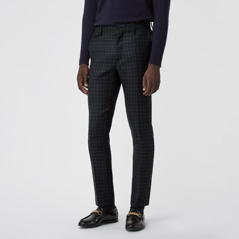 Pantaloni  Slim Fit Tartan Tailored Burberry