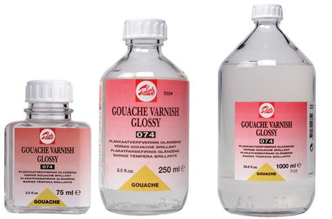 TALENS GOUACHE VARNISH GLOSSY 074 75ml, 250ml, 1000ml