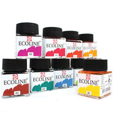 液體水彩 ECOLINE 1125...0 ECOLINE BOTTLE 30ML (48 COLOURS)