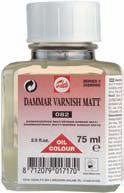 TALENS DAMMAR VARNISH MATT 082 75ml, 250ml