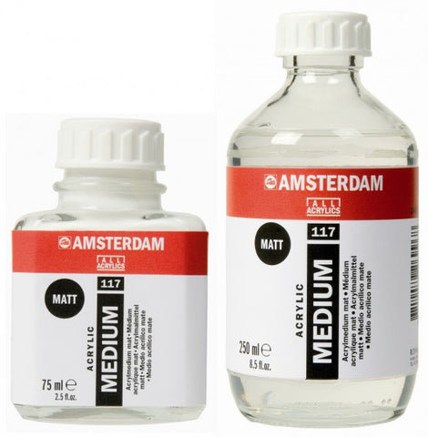 Amsterdam medium- mat (for acrylic) 117  75ml, 250ml