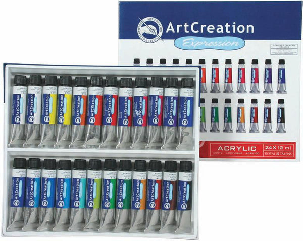 9011724M 雅比臣 塑膠彩 ARTCREATION EXPRESSION ACRYLIC COLOUR SET 24 X 12 ML