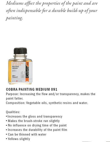24281091 COBRA PAINTING MEDIUM 091 (75ml)