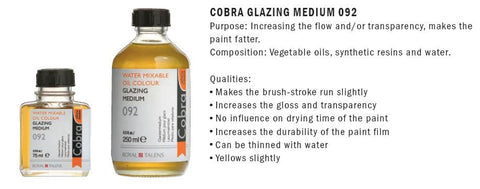 24281092 COBRA GLAZING MEDIUM 092   (75ml)