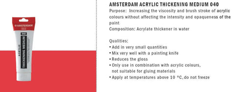 24122040 AMSTERDAM ACRYLIC THICKENING MEDIUM 040