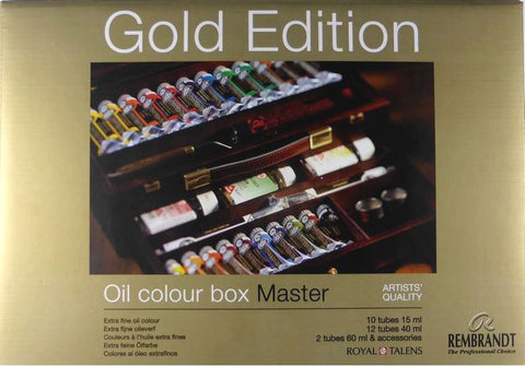 林布蘭 油彩 - 限量獨家貨品 Rembrandt Oil Color Wooden Box MASTER - Limited Exclusive
