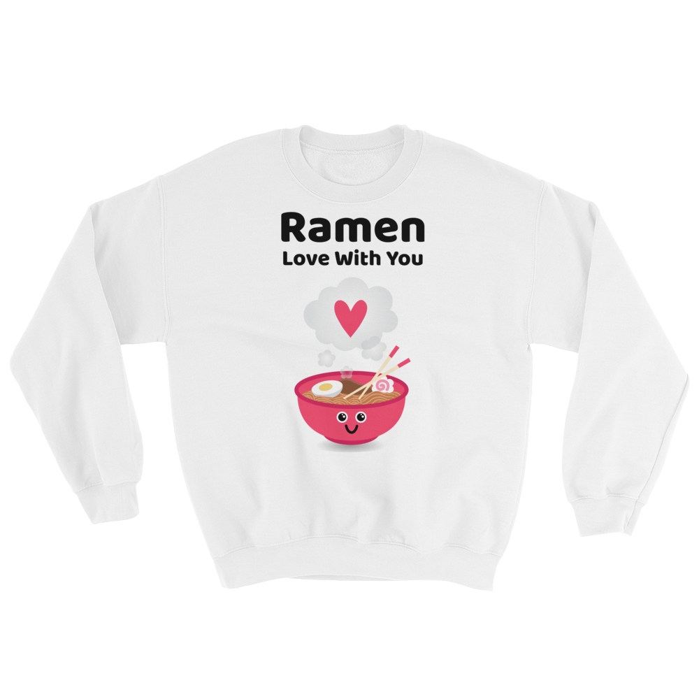 Cute Romance Ramen Love With You Sweatshirt