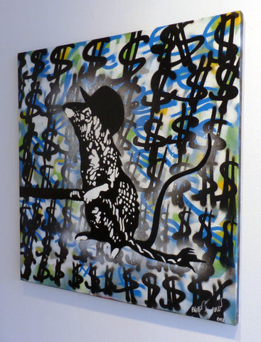 Acrylic And Spray Paint On Canvas - Blek Le Rat