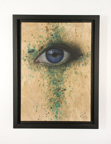 Acrylic And Spray Paint On Wood - My Dog Sighs