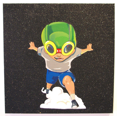 Acrylic On Canvas - Hebru Brantley