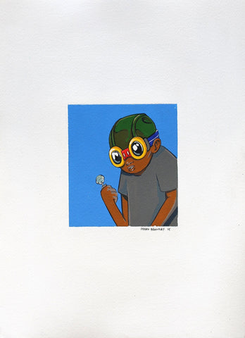 Acrylic On Paper - Hebru Brantley