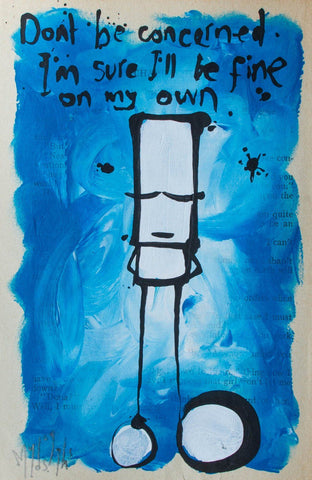 Acrylic On Paper - My Dog Sighs