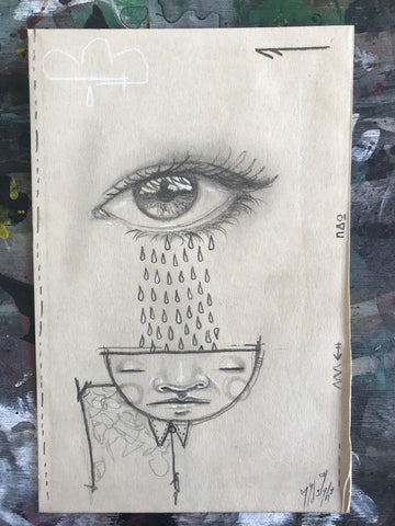 Graphite On Paper - My Dog Sighs
