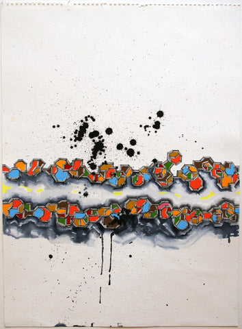 Guache And Ink On Paper - Michael Rodriguez