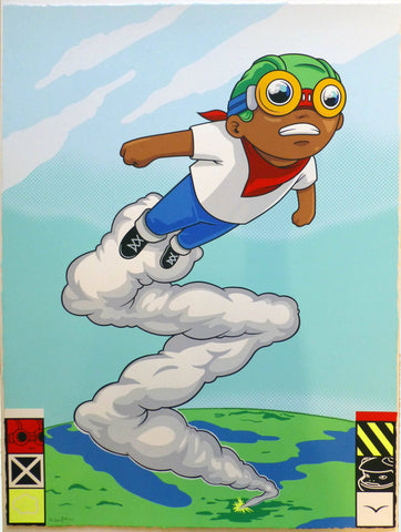 Hand Finsihed Screen Print - Hebru Brantley