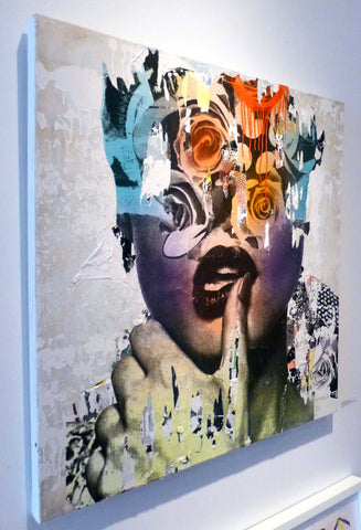 Mixed Media, Acrylic, Spray Paint, Paper - Dain